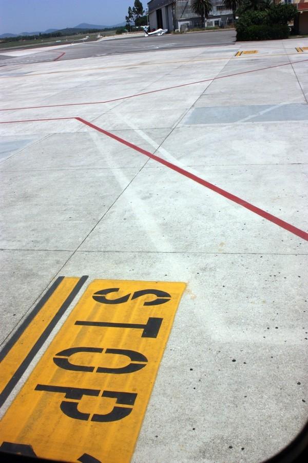 Alghero airport, Italy.  [2010.]