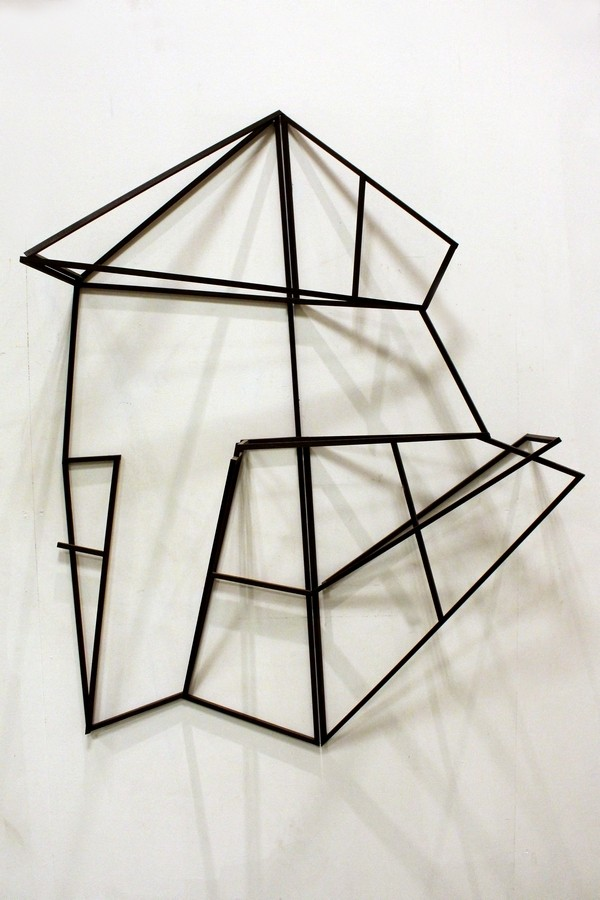 Distorted landscape  [Wood construction. 160 x 122 x 38 cm. 2011.]