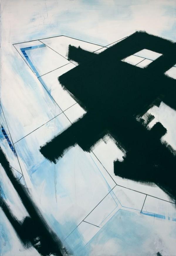 Black interference  [Acrylic on canvas. 140x 110 cm. 2011.]