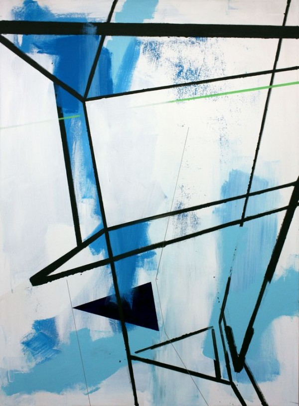 Into the landscape  [Acrylic on canvas. 130 x 95 cm. 2012.]