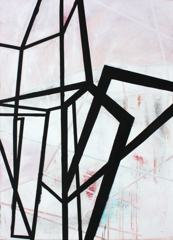 From another angle  [Acrylic on canvas. 200 x 145 cm. 2012. Sold.]