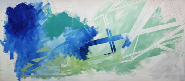 Foggy situation  [Acrylic on canvas. 93 x 210 cm. 2013.]