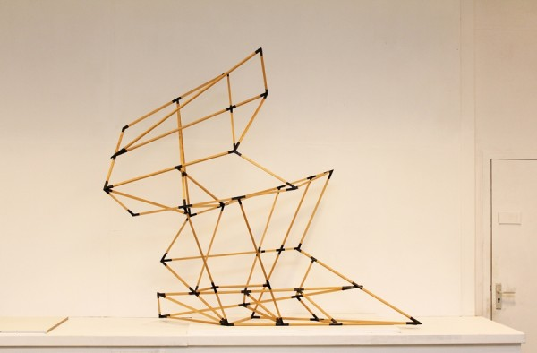 Object of silence  [Wood construction. 173 x 210 x 62 cm. 2013.]