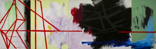 Terrain vague  [Acrylic on canvas. 80 x 250 cm. 2013.]
