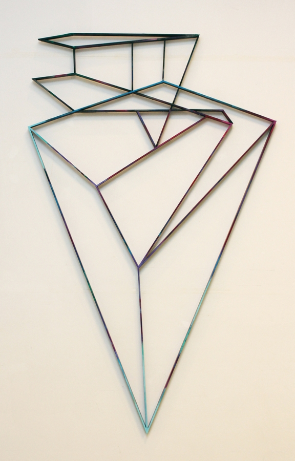 Diamond reflection  [Wood construction. 209 x 129 x 3,5 cm. 2014.]