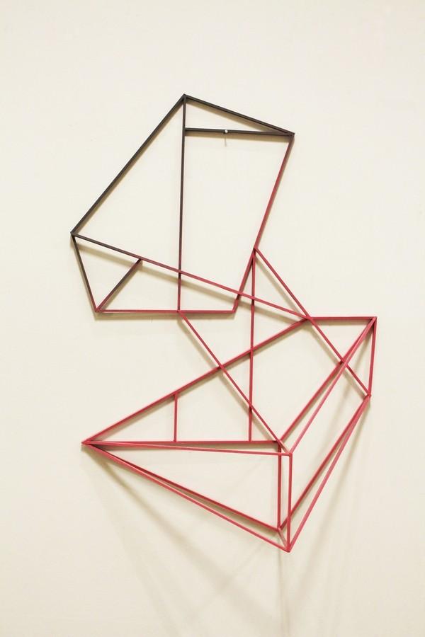 En face  [Wood construction. 86 x 60 x 14 cm. 2014. Sold.]