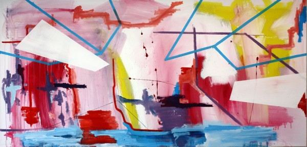 Composition with white surfaces  [Acrylic on canvas. 103 x 210 cm. 2010.]