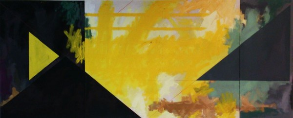 Yellow playground  [Acrylic on canvas. 70 x 170 cm. 2014. Sold.]