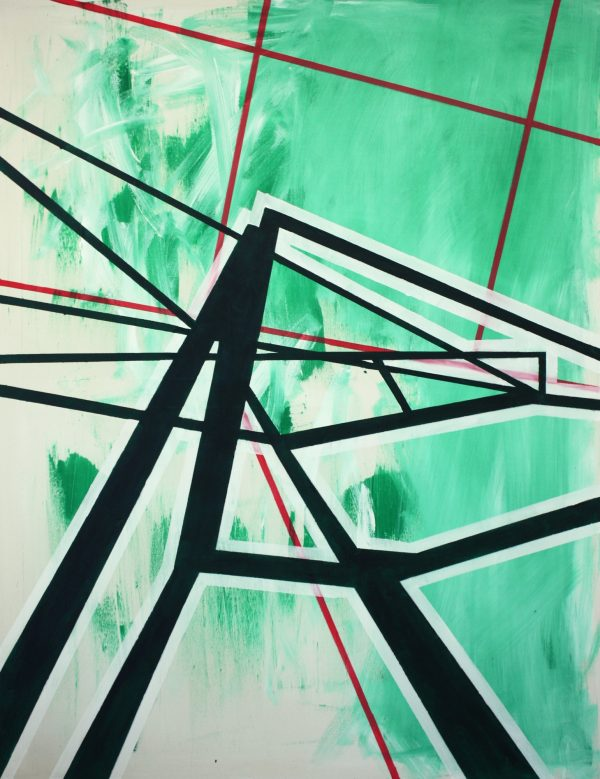 When green is something else. [ Acrylic on canvas. 135 x 105 cm. 2012. Sold.]