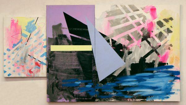 Cold wind. [Acrylic on canvas. 80 x 146 cm. 2017.]